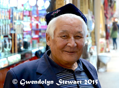 In the Grand Bazaar, Urumqi, Xinjiang, China, Photographed by Gwendolyn Stewart, c. 2015; All Rights Reserved