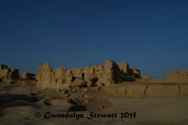 Yar City Ruins, Xinjiang, China, Photographed by Gwendolyn Stewart, c. 2015; All Rights Reserved